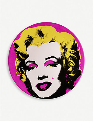 LIGNE BLANCHE: Andy Warhol Marilyn porcelain plate 21cm