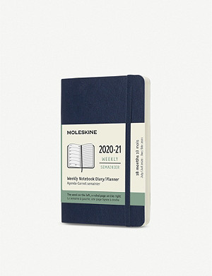 MOLESKINE 18-month weekly softcover pocket notebook diary 2020/21 14x9cm
