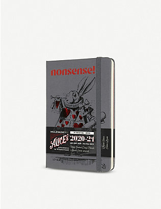 MOLESKINE: Alice in Wonderland 18-month weekly softcover pocket notebook diary 2020/21 14x9cm