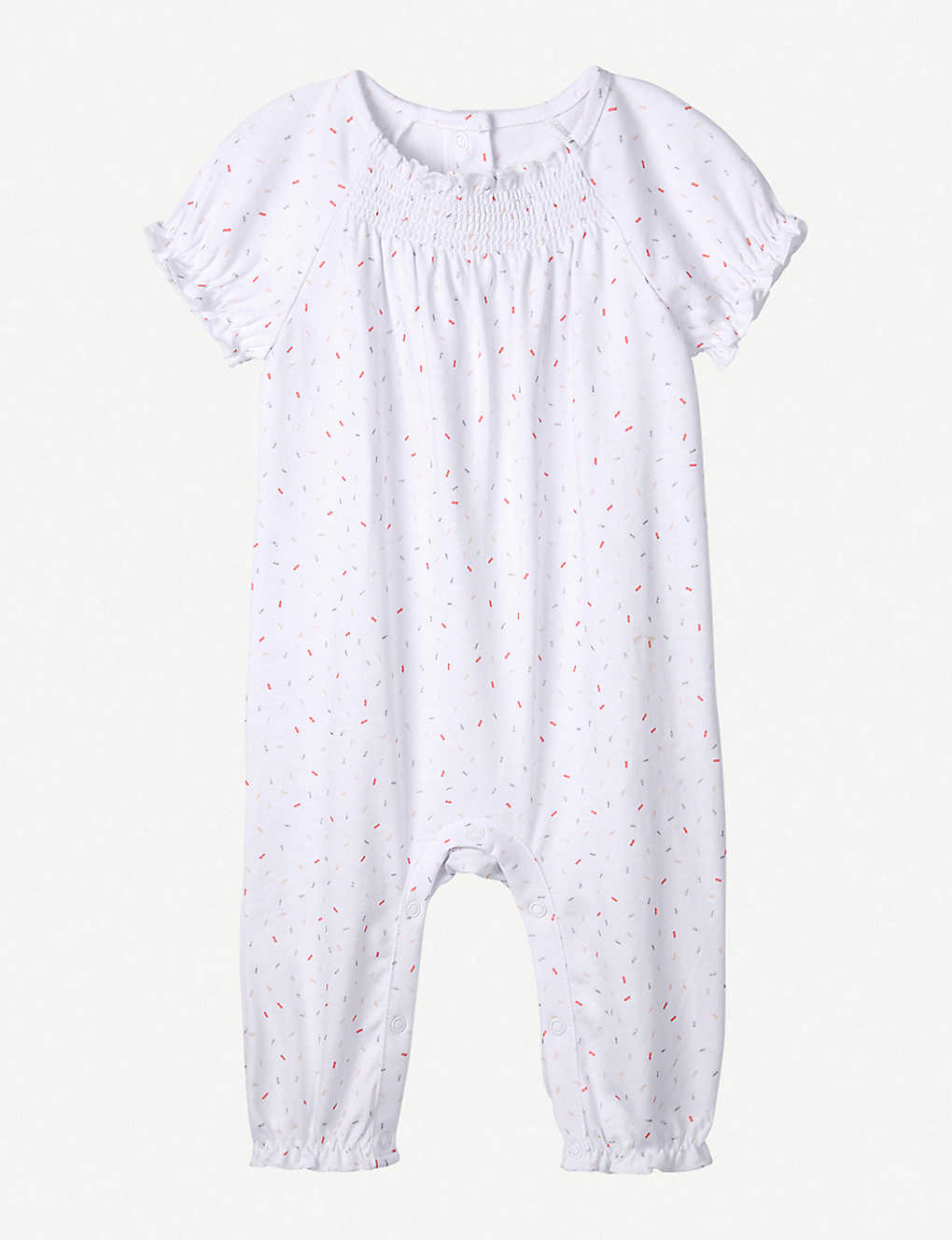 THE LITTLE WHITE COMPANY: Sprinkles graphic-print cotton sleepsuit 0-24 months