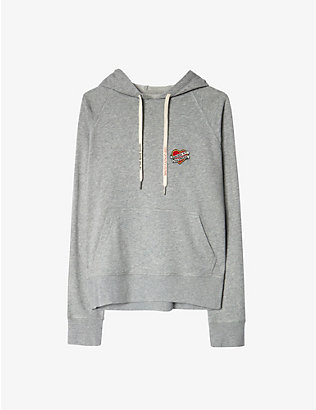 ZADIG&VOLTAIRE: Clipper-heart cotton modal hoody