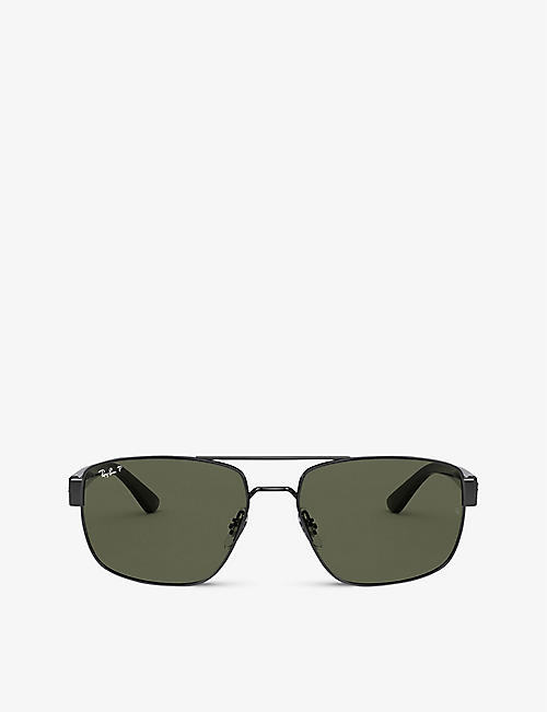 RAY-BAN: RB3663 metal aviator-frame sunglasses