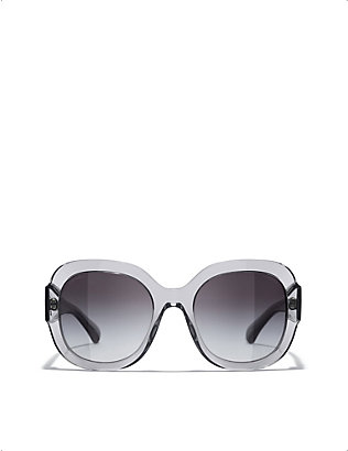 CHANEL: CH5433 square-frame acetate sunglasses