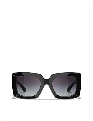 CHANEL: CH5435 acetate rectangle-frame sunglasses