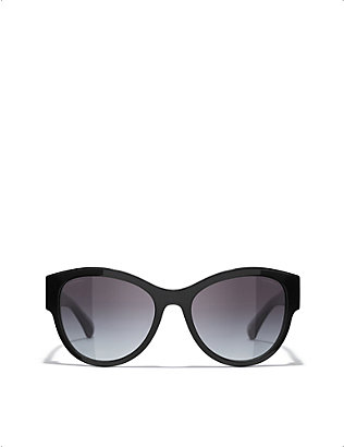 CHANEL: CH5434 Pantos butterfly-frame acetate and metal sunglasses