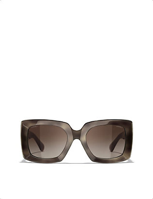 CHANEL: CH5435 rectangular-frame acetate sunglasses