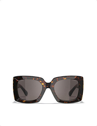 CHANEL: CH5435 rectangular-frame sunglasses