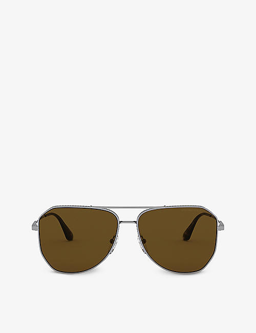 PRADA: PR 63XS aviator metal sunglasses