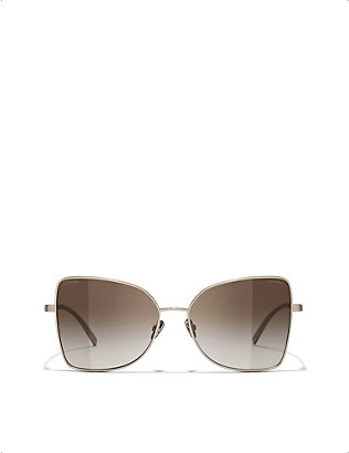 CHANEL: CH4263T butterfly-framed sunglasses