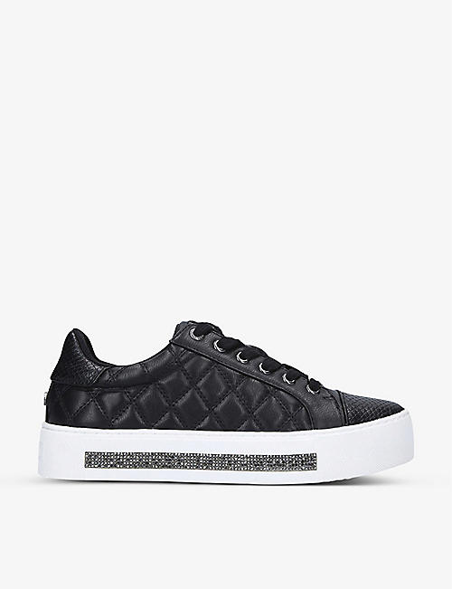 CARVELA: Jeo embellished quilted faux-leather trainers