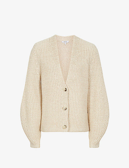 REISS: Olivia cotton-blend cardigan
