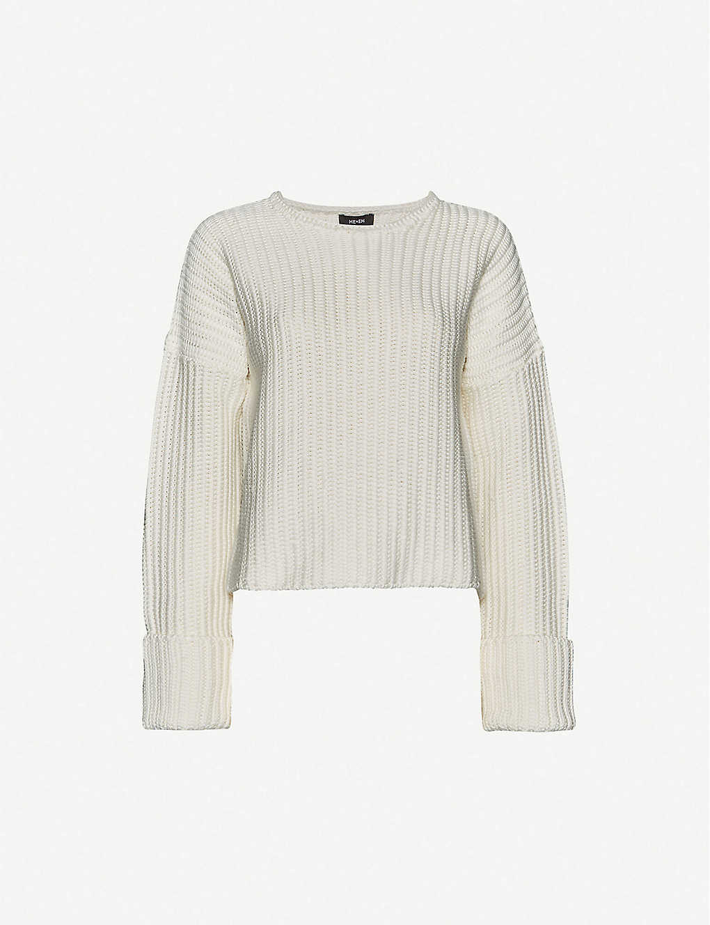 ME AND EM: Ribbed cotton-knit jumper
