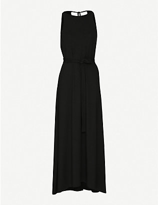 ME AND EM: Belted stretch-jersey maxi dress