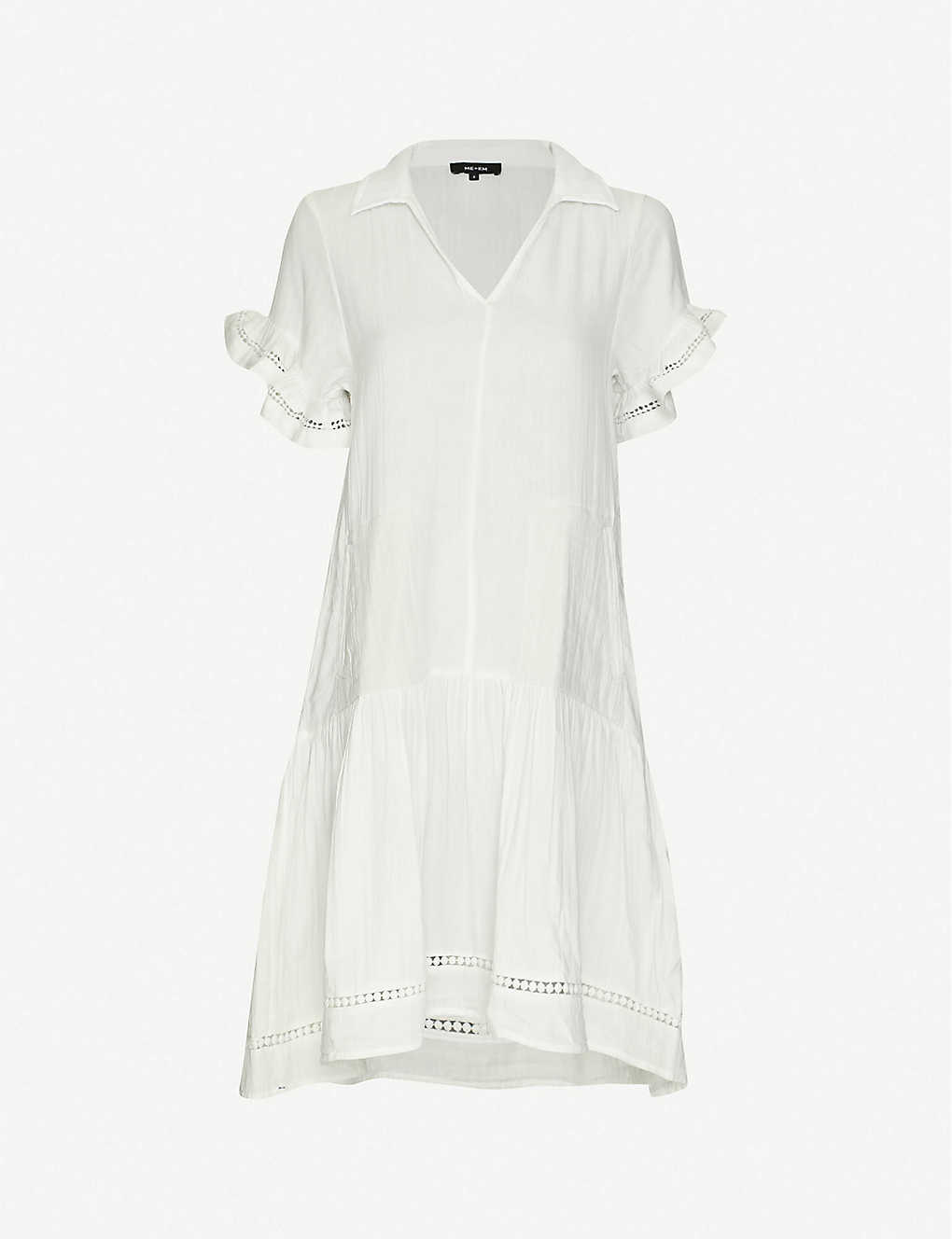ME AND EM: Frilled-sleeve cotton shirt dress