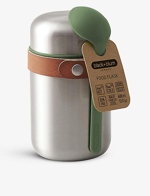 BLACK+BLUM: Insulated stainless-steel food flask