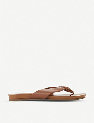 DUNE: Lyrikal knotted leather sandals