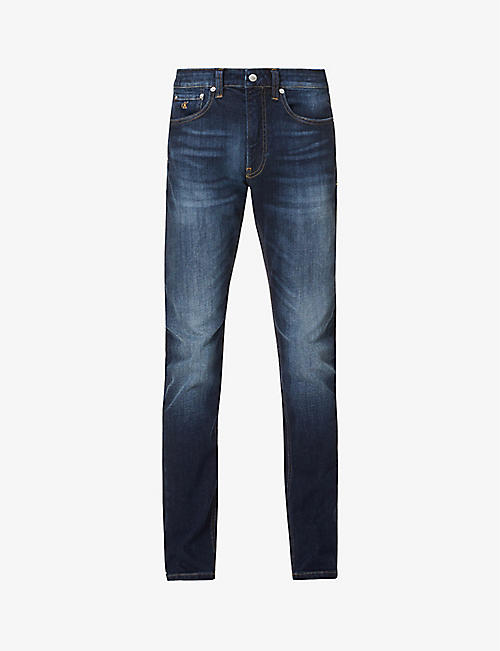 CK JEANS: 058 slim-fit straight stretch-denim jeans