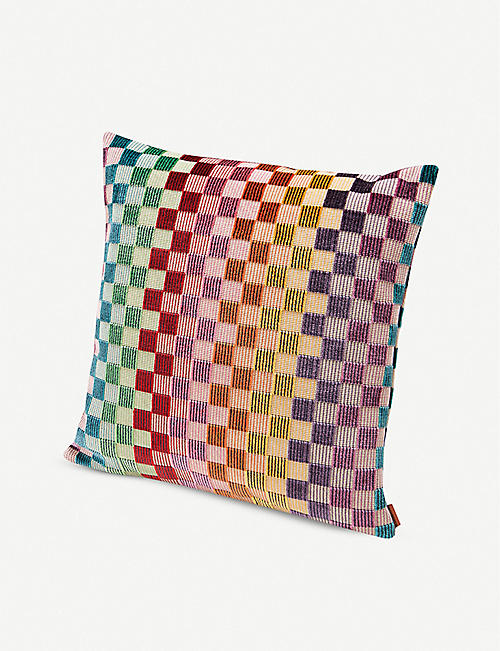 MISSONI HOME: Yugawara checked jacquard cushion 40cm x 40cm