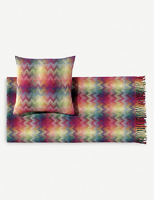 MISSONI HOME: Montgomery wool-blend throw 130cm x 190cm