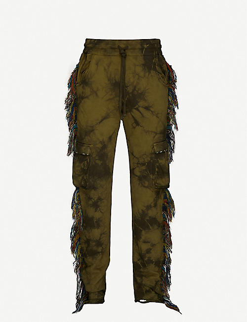 ALCHEMIST: Jungle Ride fringed tapered cotton-jersey jogging-bottoms