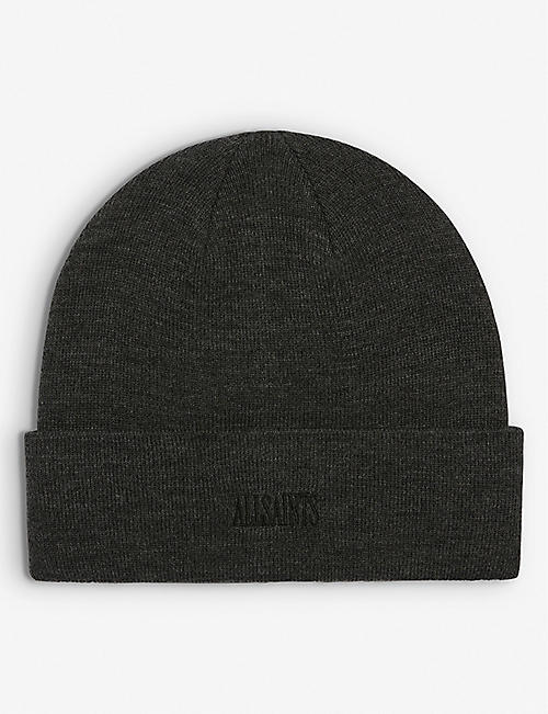 ALLSAINTS: State Logo-embroidered knitted beanie hat