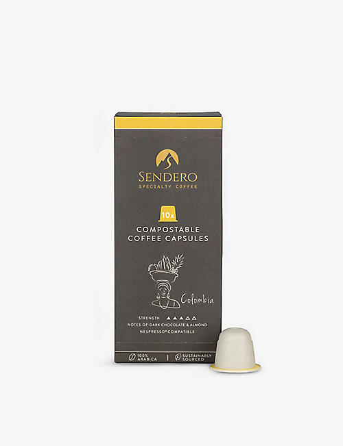 SENDERO: Colombia compostable coffee capsules pack of 10