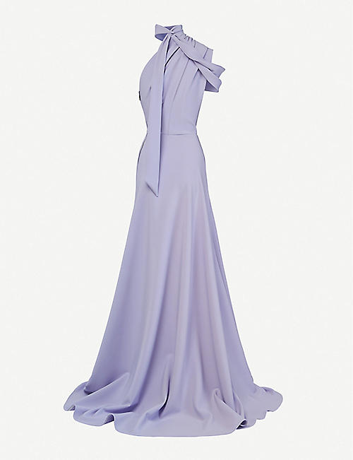 MATICEVSKI Inclination asymmetric stretch-crepe de chine gown