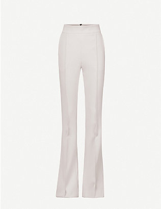 MATICEVSKI: Industry flared high-rise stretch-crepe trousers