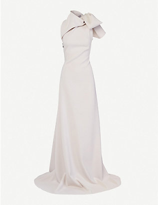 MATICEVSKI: Captivate bead-embellished stretch-crepe gown
