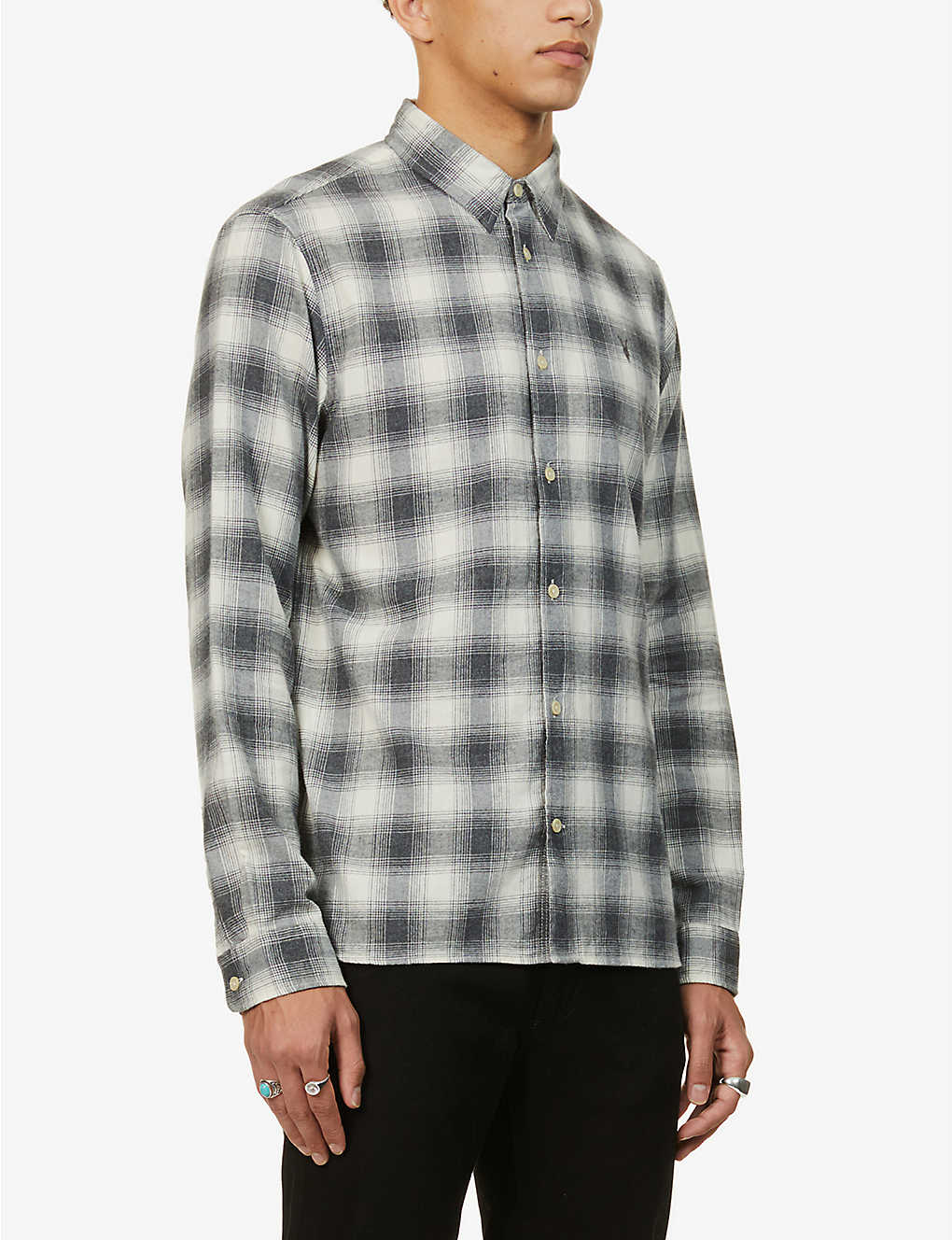 ALLSAINTS: Dogwood checked cotton shirt