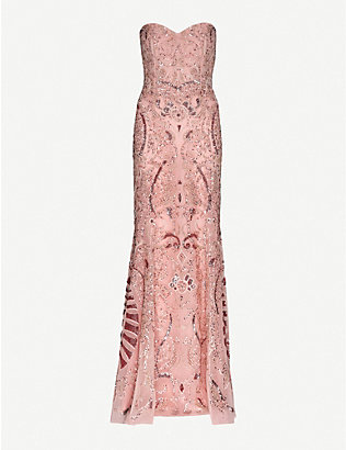 ZUHAIR MURAD: Sequinned silk-chiffon gown