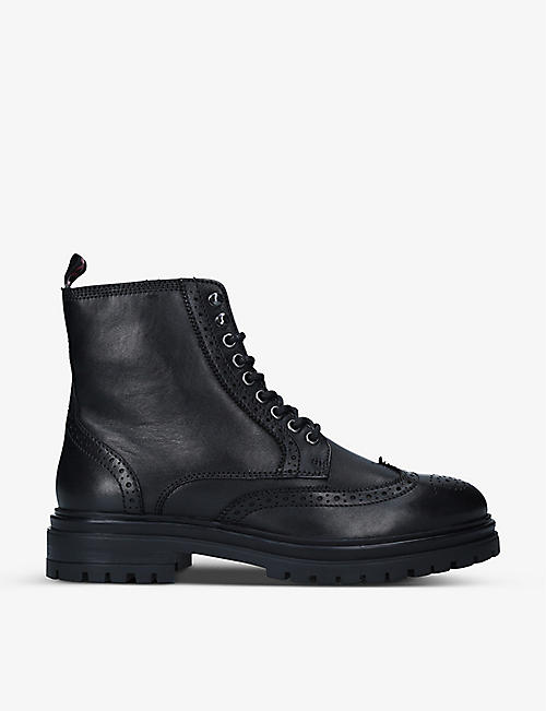 KG KURT GEIGER: Ashurst lace-up leather boots