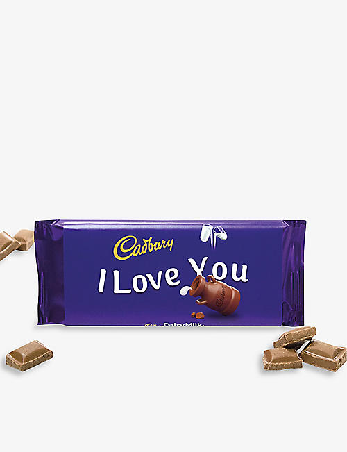 CADBURY: I Love You Dairy Milk chocolate bar 110g