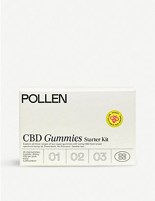 POLLEN: Powerbank, No Pressure and Sooth You CBD food suppliment gummies starter kit 108g