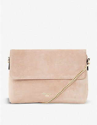DUNE: Beliza suede clutch bag