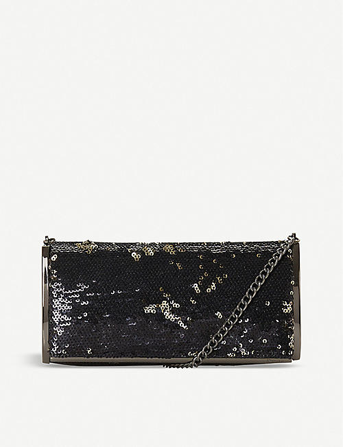 DUNE: Bristina sequin clutch bag