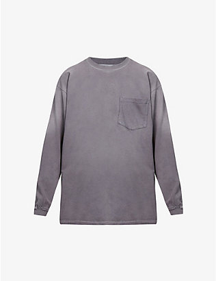 BILLY LOS ANGELES: Sun Faded cotton-jersey top