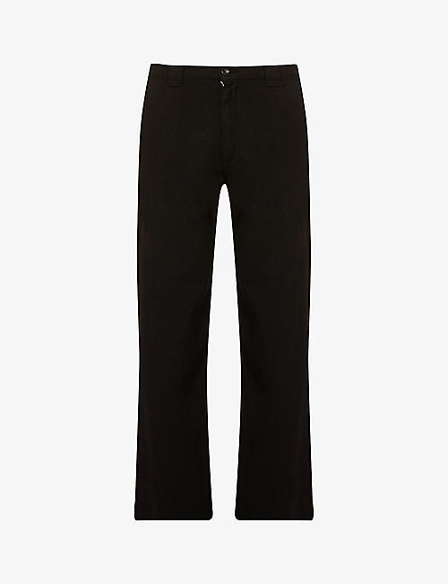 BILLY LOS ANGELES: Skater straight cropped cotton trousers
