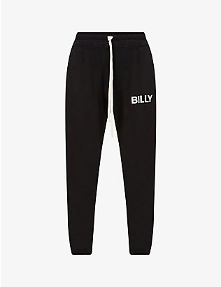 BILLY LOS ANGELES: Logo-print cotton-jersey jogging bottoms