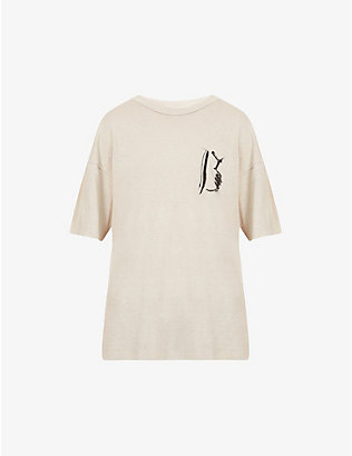 BILLY LOS ANGELES: Eastlake cotton-jersey T-shirt