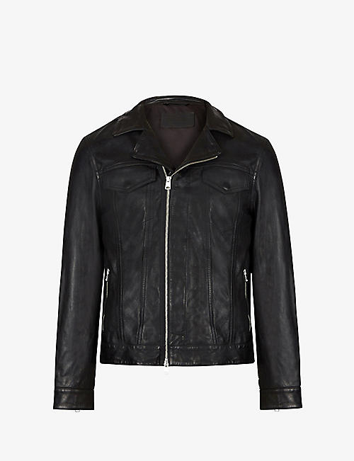 ALLSAINTS: Brandt leather biker jacket