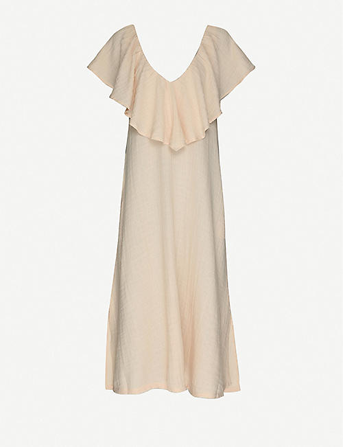ANAAK: Brigitte ruffle-trim cotton-muslin maxi dress