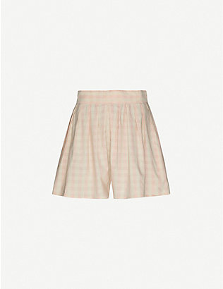 ANAAK: Annex wide-leg high-rise cotton shorts