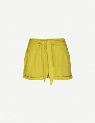 ANAAK: Maithili high-waist cotton-muslin shorts