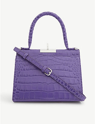 GU DE: Play croc-embossed leather top-handle bag
