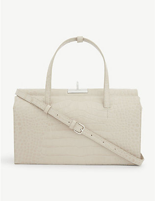 GU DE: Margot croc-embossed leather top-handle bag