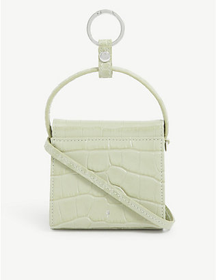GU DE: Play mini croc-embossed leather top-handle bag