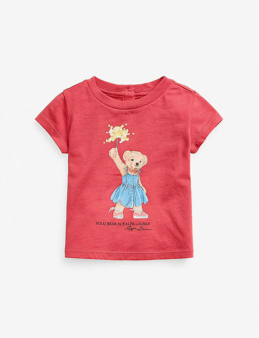RALPH LAUREN: Bear-print cotton T-shirt 9-24 months