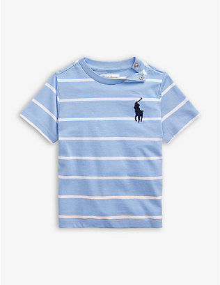 RALPH LAUREN: Striped cotton T-shirt 3-24 months