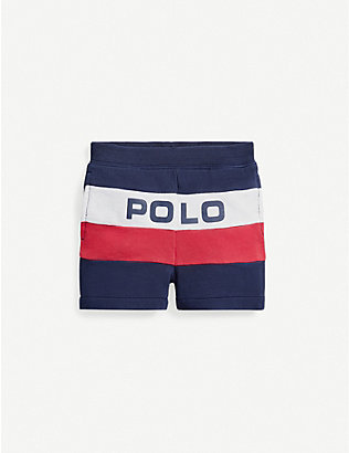 RALPH LAUREN: Logo-print cotton shorts 3-24 months
